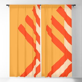 GEOMETRY ORANGE II Blackout Curtain