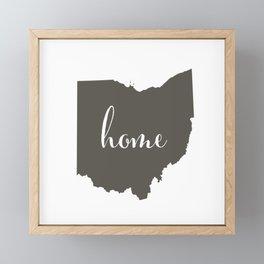 Ohio is Home Framed Mini Art Print