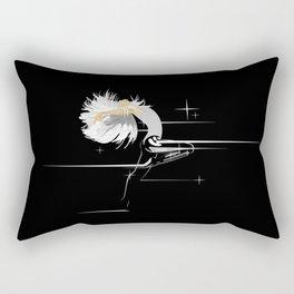 White Hair Girl Rectangular Pillow