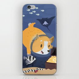 Diving For Treasure! iPhone Skin