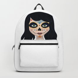 Day of the Dead Girl Illustration Backpack