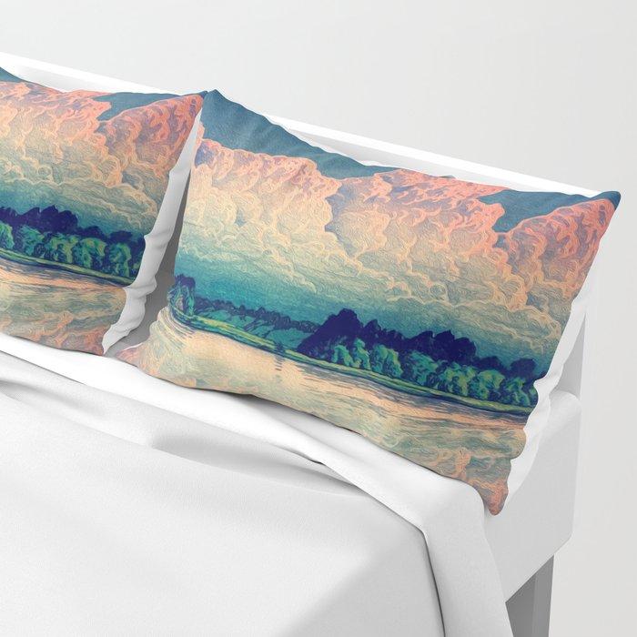 Admiring the Clouds in Kono Pillow Sham