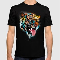 FEROCIOUS TIGER LARGE Mens Fitted Tee Black