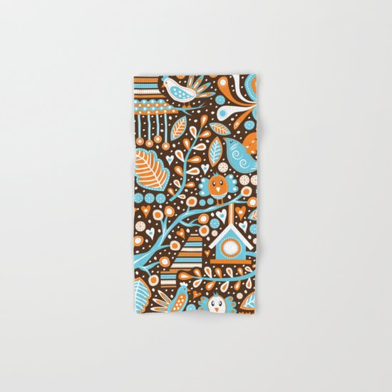Bird Patterns Hand & Bath Towel