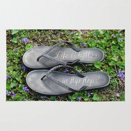 Life is better in flip flops! Rug