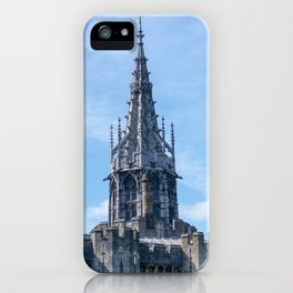 Gothic Tower on Cardiff Castle in Wales United Kingdom iPhone Case