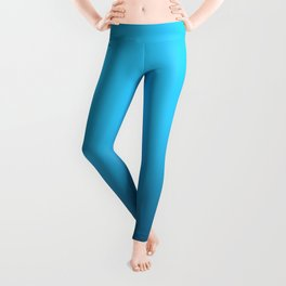 Simply fresh teal blue color gradient - Mix and Match with Simplicity of Life Leggings