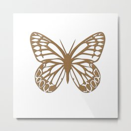 Cute Giant Gold Butterfly Metal Print