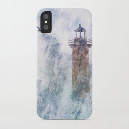 Storm in the lighthouse iPhone Case
