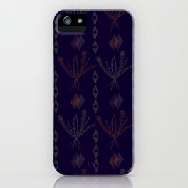 Purple Weeds iPhone Case