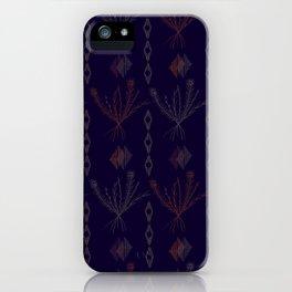 Purple Weeds iPhone Case
