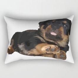 Cute Rottweiler Puppy Vector Rectangular Pillow