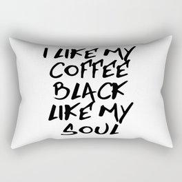 Black like my soul Rectangular Pillow