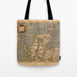Vintage Map of Scotland Tote Bag