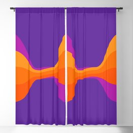 Purple Twist Blackout Curtain