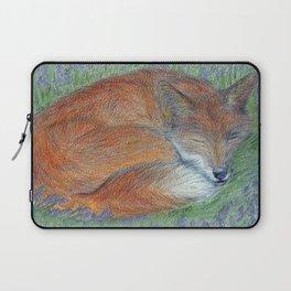 A Sleepy Fox  Laptop Sleeve