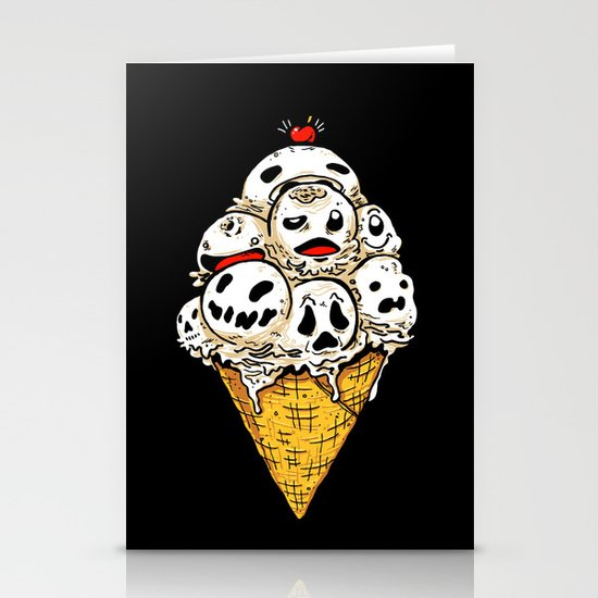 I Scream on Friday the 13th Stationery Cards