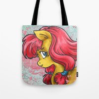 pony Tote Bags featuring Pony by Pepacs