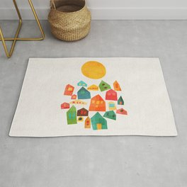 Looking at the same sun Rug