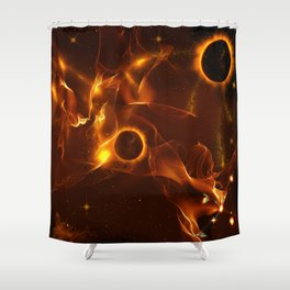 The inferno Shower Curtain