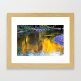 Autumn falls Framed Art Print