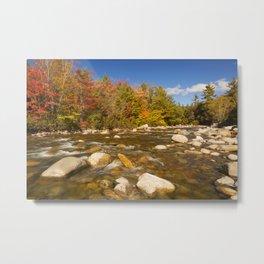 I - River through fall foliage, Swift River, New Hampshire, USA Metal Print