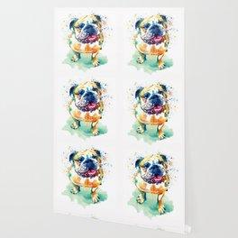 Watercolor Bulldog Wallpaper