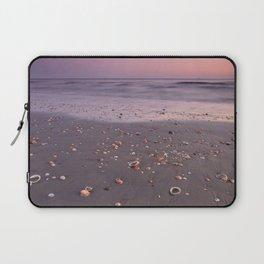 The Beach Of The Shells. Purple sunset Laptop Sleeve
