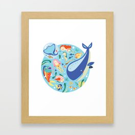 Under The Sea with a Mermaid Framed Art Print