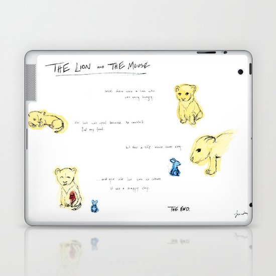 the lion  and the mouse. Laptop & iPad Skin