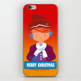 "Mikel AlfsToys say: ""Merry Christmas""  iPhone Skin"