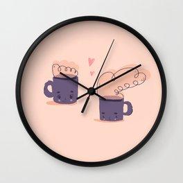 cute tiny mugs Wall Clock