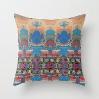 oasis Throw Pillows featuring Oasis by Jim Pavelle