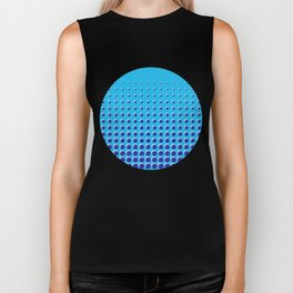 Blue on blue grid - Optical game 14 Biker Tank