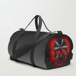 Vinyl Skull RED / The end of tunes Duffle Bag