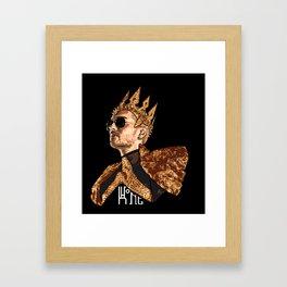 King Bill - White Text Framed Art Print