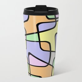 Mid Century Pastel Art Travel Mug