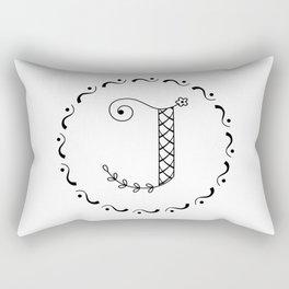 J - decorative monogram. Rectangular Pillow