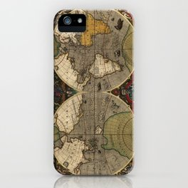 1595 Vera Totius Expeditionis Nauticae - Map of Sir Francis Drake's Circumnavigation of the Globe iPhone Case