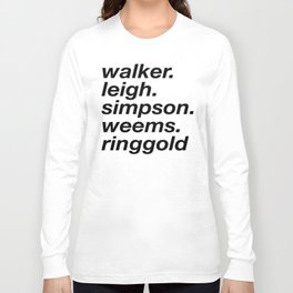 WOC curators and artists (white version) Long Sleeve T-shirt