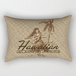 Tradewinds Hawaiian Island Hula Girl Rectangular Pillow