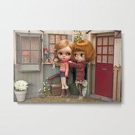 Erregiro Blythe Custom Doll Play Garden Metal Print