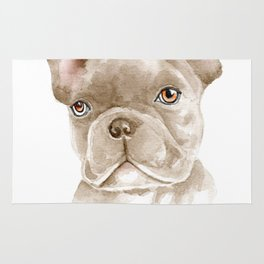 WATERCOLOR FRENCH BULLDOG / FRENCHIE Rug