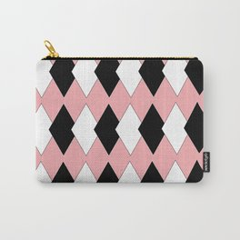 Diamonds On Pink Carry-All Pouch