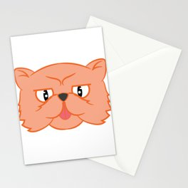 This cute Cat design is perfect for any kid who loves animals. Cat Lover Orangy Cute Cat Stationery Cards