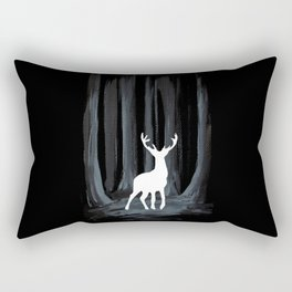 Glowing White Stag Rectangular Pillow