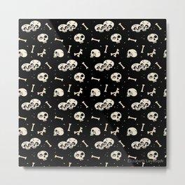 Skullery Pattern Metal Print