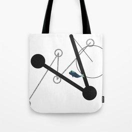 undulate geometric with whale Tote Bag