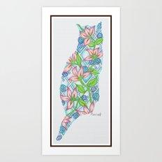 TropiKitty Art Print