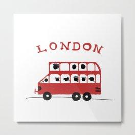 London - Bus Double Decker Metal Print